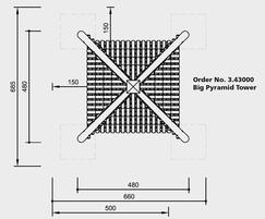 Big Pyramid Tower - drawing