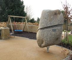 A key feature of the site is the turning stone