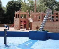 Archimedes screw featured in the water play area