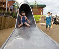 Water tunnel slide