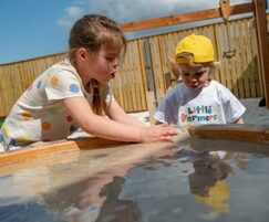 Water play for outdoor area