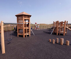 Play area at Priors Hall residential development