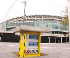 Service unit raised Wembley Arena Square