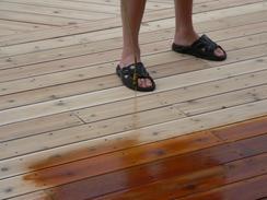 Deck preparation - spraying