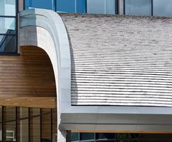 Cedar shingle roof at Durham University