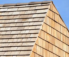 Detail of Western Red Cedar Shingles at a hospice