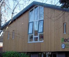 Siberian larch cladding on self-build property
