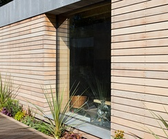 Prestige vertical grain rainscreen cladding (aged)
