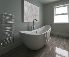 Findon steel heated towel rail