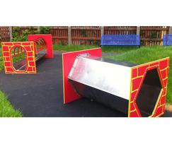Complementary themed play equipment