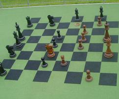 Chessboard in rubber safety play surfacing