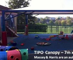 Tipo 7x7m canopy, Crab Lane Primary School