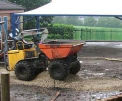 Crab Lane Primary School play area under construction