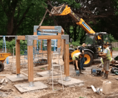Construction works for the Bramall Hall play area