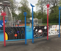 Various play equipment was designed and installed