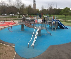 New safety surfacing installed at space-themed park