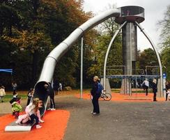 UFO centrepiece at Heaton Park playground