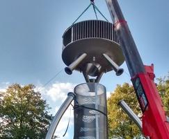 UFO installation in Heaton Park