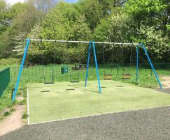 Traditional swings in Chorlton Water Park