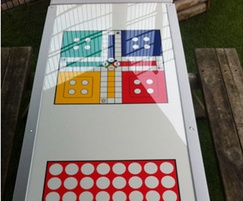 Game boards for picnic tables