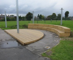 Stage and two tier seating: Green End Primary School,