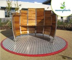 Massey & Harris Timber Barrel Roundabout