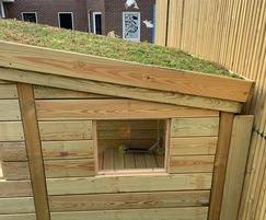Play house seedum roof