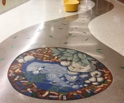 Forest Pond mosaic for children's hospital