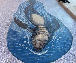 Elephant Seal mosaic - children's hospital, California