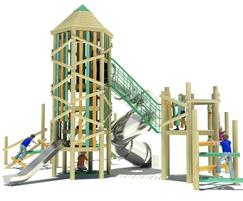 CGI image of the Zion adventure tower - side view