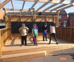 Stage and performance area in primary school playground
