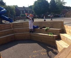 Amphitheatre in school playground