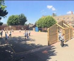 Transformed primary school playground