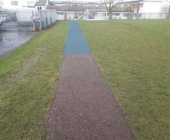Bonded Mulch Running Track