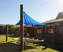 Removable shade sail and Maze seating