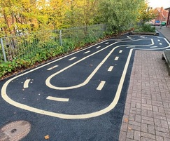 Bespoke track in play area