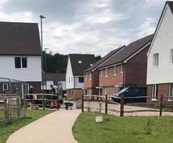 Resin bound surfacing - housing development, Essex