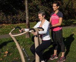 Urbanix outdoor gym equipment installed in Leatherhead
