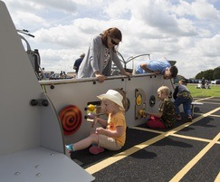 A play helicopter and plane were also included
