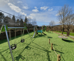 Play area with many play options