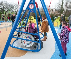 Inclusive swing for wheelchair users