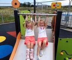 Wide slide for 2 children