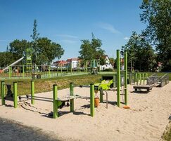 Bespoke playground with mining and industrial theme
