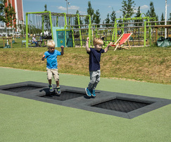 Three trampolines are included in the playground