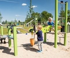 'Sand factory' themed play area for 0 to 6 year-olds