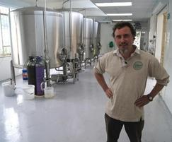 Greg Piley from Stroud Brewery with new vessels