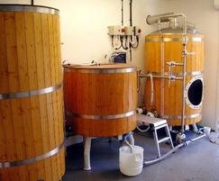 Old brewery equipment, replaced by Burkert system
