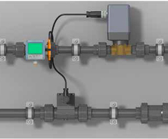 Parts include piping, sensors, controllers and valves