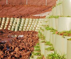 Webwall flexible retaining wall system
