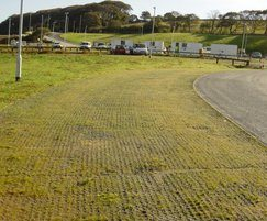 Grassed finish for Sudspave 40 parking bay areas